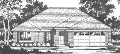 Traditional Style Home Design Plan: 9-123
