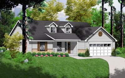 Country Style Home Design Plan: 9-131