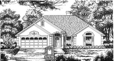 Traditional Style Home Design Plan: 9-136