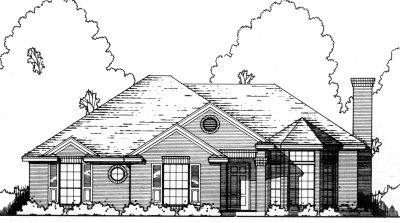 Traditional Style Home Design Plan: 9-138