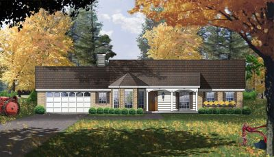 Country Style House Plans Plan: 9-140