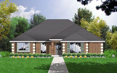 European Style Home Design Plan: 9-143