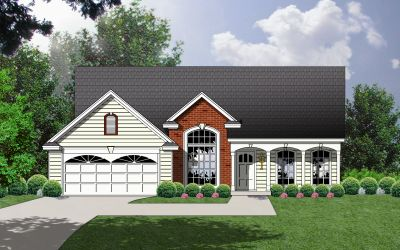 Country Style Home Design Plan: 9-144