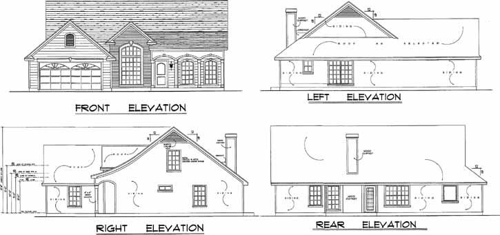 Rear Elevation Plan: 9-144