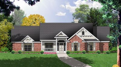 Traditional Style Home Design Plan: 9-145