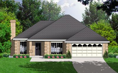Traditional Style Home Design Plan: 9-148
