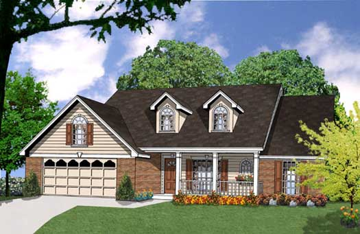 Country Style House Plans Plan: 9-154