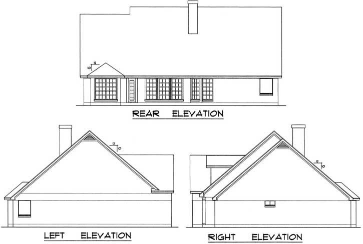 Rear Elevations Plan:9-154