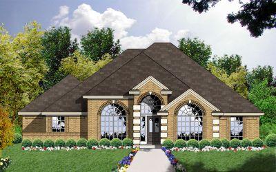 European Style House Plans Plan: 9-157