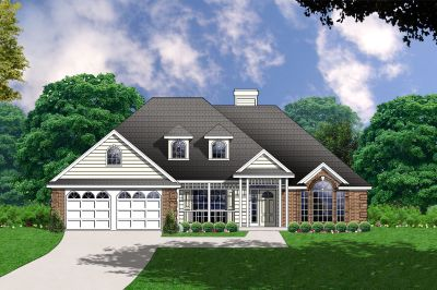 Traditional Style Home Design Plan: 9-158