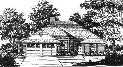 Traditional Style Home Design Plan: 9-163