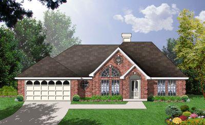 European Style Home Design Plan: 9-168
