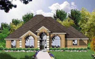 European Style Home Design Plan: 9-172