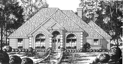 European Style House Plans Plan: 9-174
