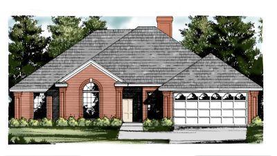 European Style Home Design Plan: 9-180
