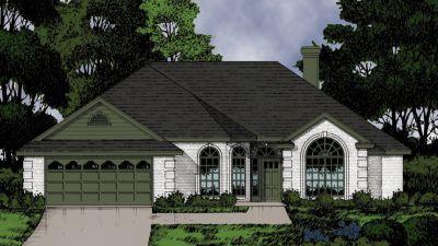 European Style House Plans Plan: 9-182