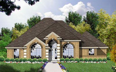 European Style Home Design Plan: 9-186
