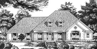 Traditional Style Home Design Plan: 9-196