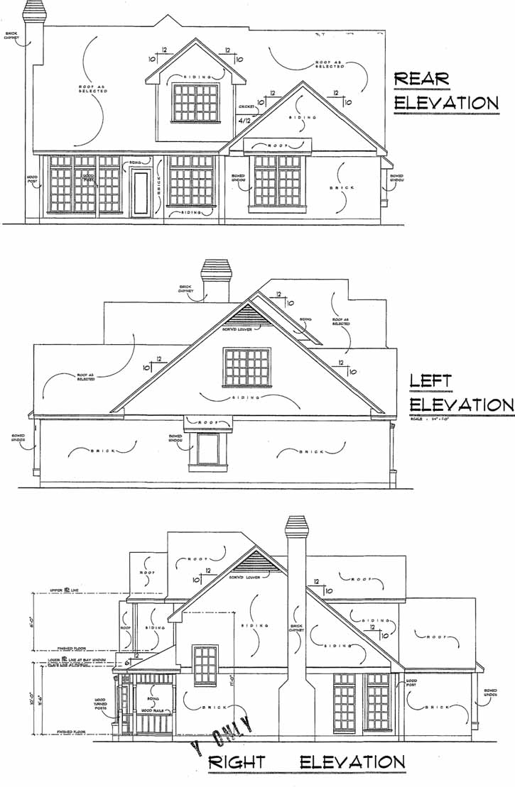 Rear Elevation Plan: 9-200