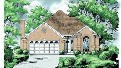 Traditional Style Home Design Plan: 9-206