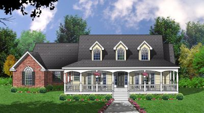 Country Style House Plans Plan: 9-209