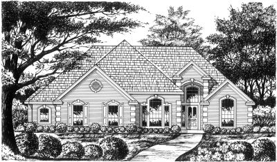 European Style House Plans Plan: 9-210