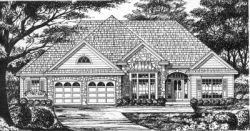 Traditional Style Home Design Plan: 9-211
