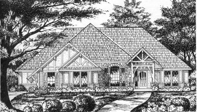 English-country Style House Plans Plan: 9-212