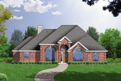 European Style House Plans Plan: 9-214