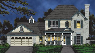 Country Style Floor Plans Plan: 9-215