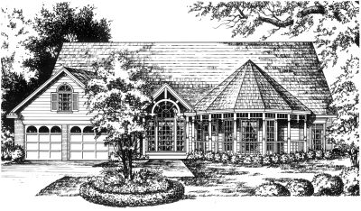 Country Style Floor Plans Plan: 9-217