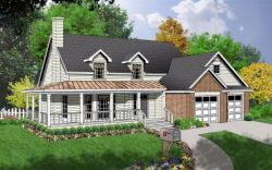 Country Style House Plans Plan: 9-218