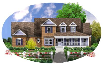 Country Style House Plans Plan: 9-222