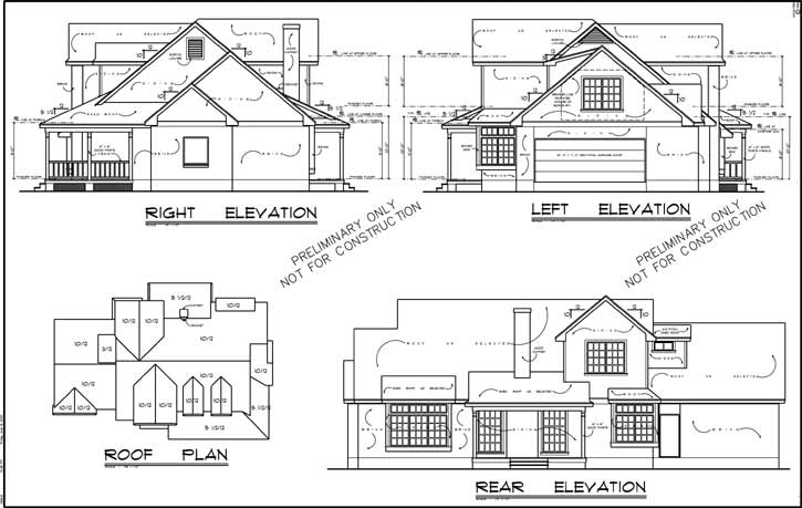 Rear Elevation Plan: 9-222