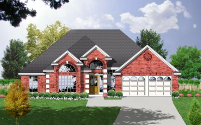 European Style House Plans Plan: 9-224