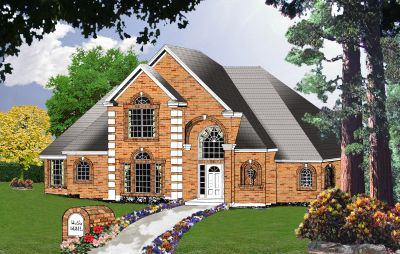 European Style Home Design Plan: 9-225