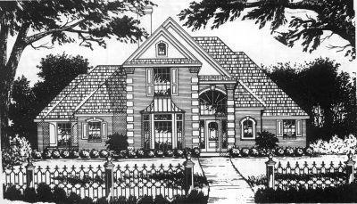 European Style House Plans Plan: 9-228
