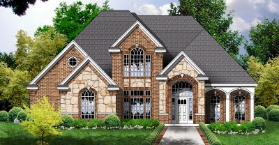 European Style Home Design Plan: 9-232