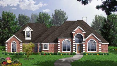 European Style House Plans Plan: 9-235