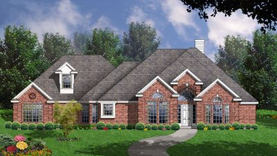 European Style Home Design Plan: 9-236