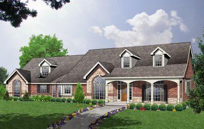 Farm Style Home Design Plan: 9-237