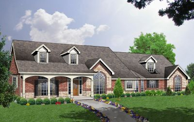 Farm Style Home Design Plan: 9-238