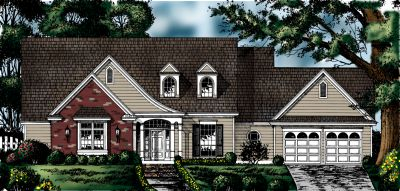 Country Style Home Design Plan: 9-245