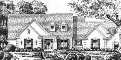 European Style Home Design Plan: 9-247