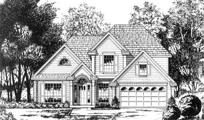 Traditional Style Home Design Plan: 9-252