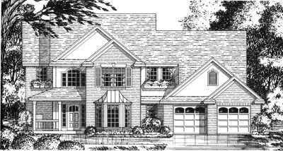 Country Style Home Design Plan: 9-253