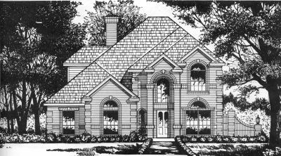 European Style House Plans Plan: 9-256