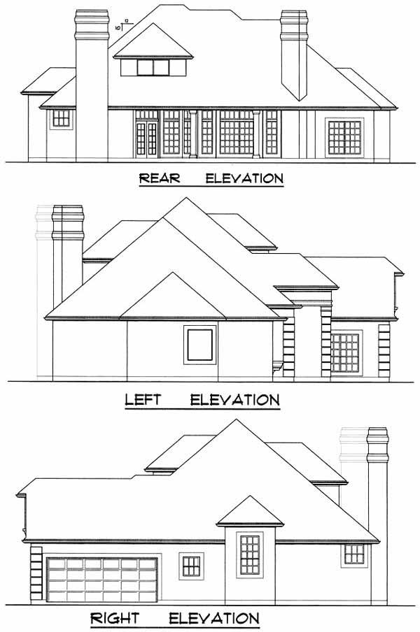 Rear Elevation Plan: 9-260