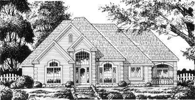 European Style House Plans Plan: 9-261