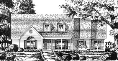 Country Style Home Design Plan: 9-262